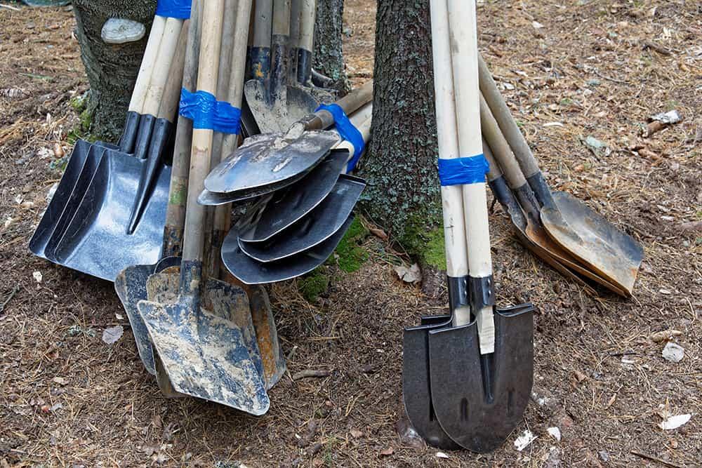 types of shovels